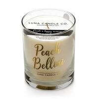 Luna Candle Co., Peach Belini - Scented Luxurious Candles - 11 Oz - 110 Hrs Burn Time