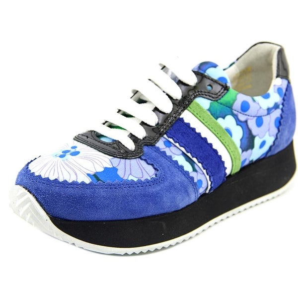 Carven Running sneaker Women Round Toe Suede Blue Sneakers