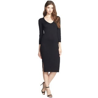 French Connection Bambino Knits V-Neck Midi Sweater Cocktail Day Dress