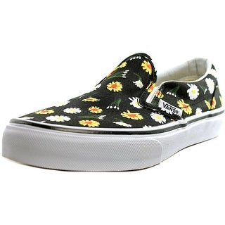 Vans Classic Slip-On Youth Round Toe Canvas Black Loafer (Option: 11)
