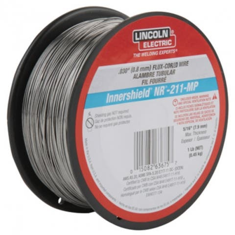 "Lincoln ED031448 Innershield NR-211-MP Flux-Cored Welding Wire, 0.030"", 1 Lb"