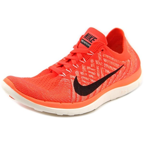 Nike Free 4.0 Flyknit Women Round Toe Synthetic Orange Running Shoe