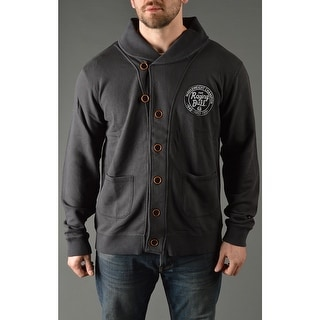 Roots of Fight Jake LaMotta Throwback Button-Front Cardigan - Black (Option: 3xl)