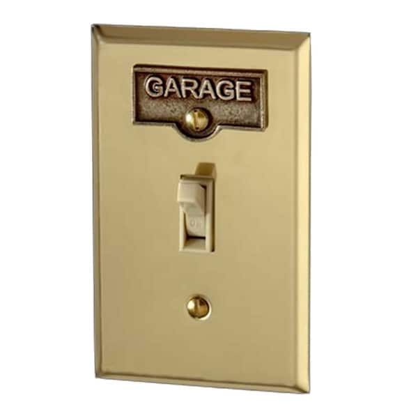 Switch Plate Tags GARAGE Name Signs Labels Antique Brass | Renovator's Supply
