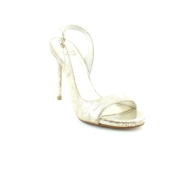 Stuart Weitzman Reckless Women's Heels Gold Cracked