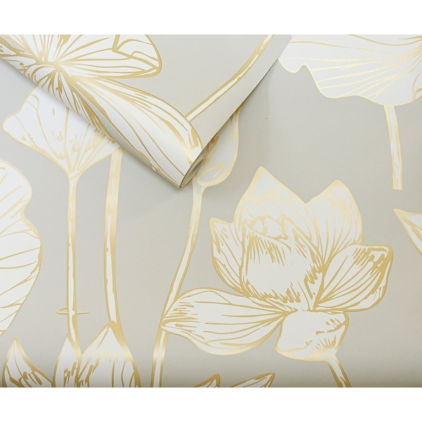 NextWall Lotus Floral Peel and Stick Wallpaper. Opens flyout.