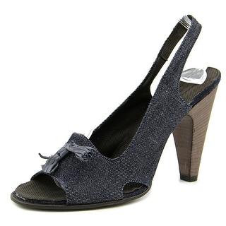 Raparo Da-Schuhe   Open-Toe Canvas  Slingback Heel