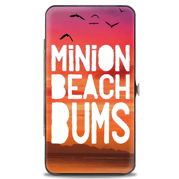 Minion Beach Bums + Minions Paradise 3 Minion Pose Sunset Hinged Wallet - One Size Fits most