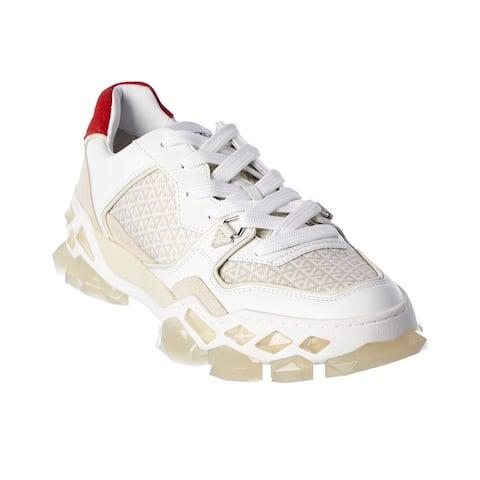 Jimmy Choo Diamond X Trainer/M Leather & Suede Sneaker