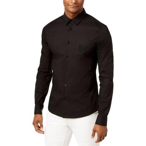 Versace Mens Logo Button Up Shirt