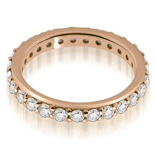 1.35 cttw. 14K Rose Gold Classic Round Cut Diamond Eternity Band Ring