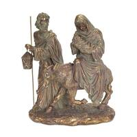 """12"""" Gold Colored Holy Family Nativity Scene Christmas Tabletop Figure"""