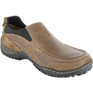 Nunn Bush Men's Portage 84227 Moc Toe Slip On Prairie Beige Waxed Suede/Tumbled Leather