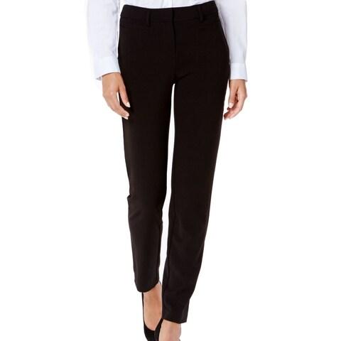 XOXO Deep Black Size 11/12 Junior Ankle Flat Tab Front Dress Pants