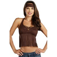 Dreamgirl Native Hippie Adult Costume Kit - Brown