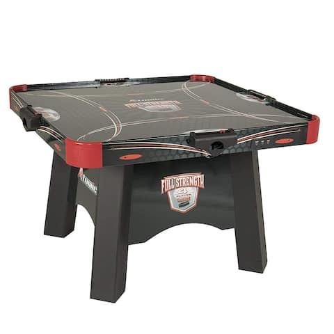 Atomic Full Strength 4-Player Air Hockey Table with Light UP Pucks and Pushers - Black