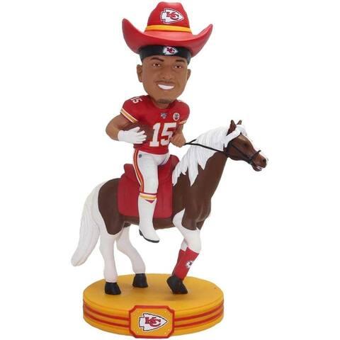 Kansas City Chiefs Patrick Mahomes #15 Riding Horse NFL Resin Bobblehead - Red