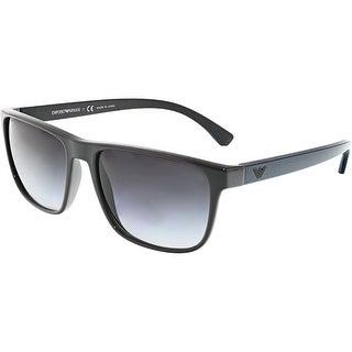 Emporio Armani Men's Gradient EA4087-55598G-57 Grey Rectangle Sunglasses
