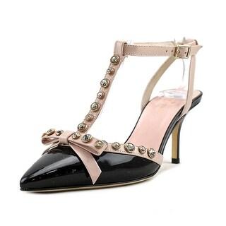Kate Spade Julianna Women  Pointed Toe Patent Leather Black Slingback Heel