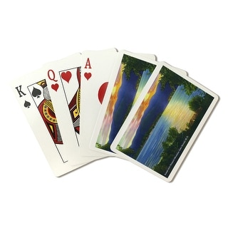 Lake George, New York - Sunset View of Prospect Mountain - Vintage Halftone (Poker Playing Cards Deck)