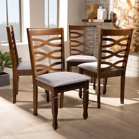 Elijah Modern and Contemporary 4-Piece Dining Chair Set