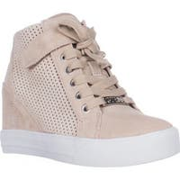 Guess Womens Decia Leather Hight Top   Fashion Sneakers