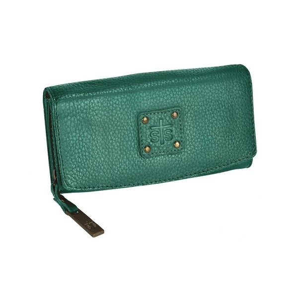 STS Ranchwear Western Wallet Womens Leather Snap O/S Teal - One size