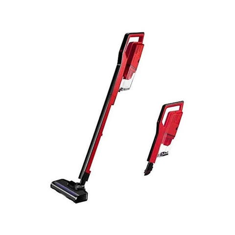 Miss Lacy Upright Cordless Vacuum Cleaner 6.5Kpa Strong Suction Lightweight Handheld Vacuum (Red)