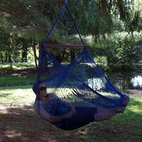 Sunnydaze Hanging Cabo Extra Large Hammock Chair, 47 Inch Wide Spreader Bar, Max Weight: 360 Pounds, Color Options Available