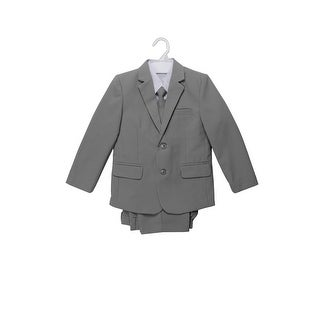 Wallao Boys Formal Suit Flap with Shirt and Vest Gray