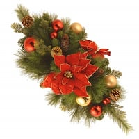 "30"" Vibrantly Colored Christmas Decoration Centerpiece - green"
