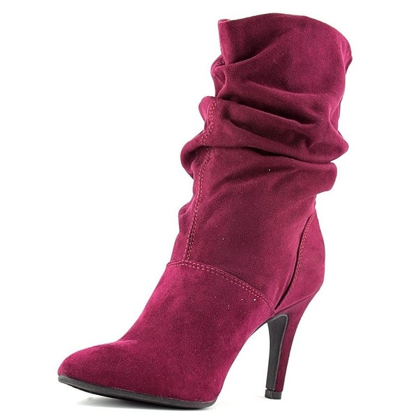 Style & Co. Womens Adelay Suede Pointed Toe Mid-Calf Fashion Boots