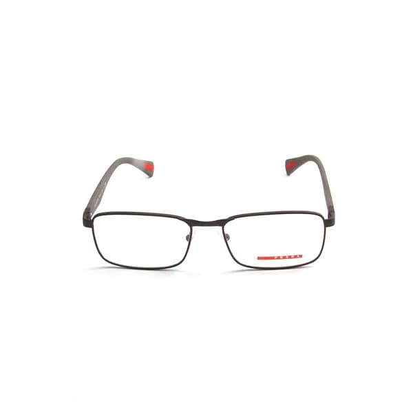 b7ec2c0ea01 Shop Prada Linea Rossa Optical Eyeglasses In Black Rubber - Black Rubber -  One Size - Free Shipping Today - Overstock - 26301401