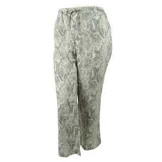 JM Collection Women's 100% Linen Wide-Leg Pants