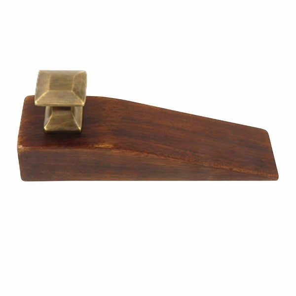 Door Wedge Solid Mango Wood Oil Rubbed Bronze Brown Renovator X27 S