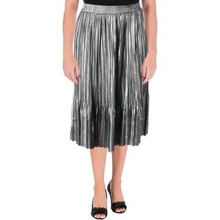 Scotch & Soda Womens Pleated Skirt Metallic Pleated