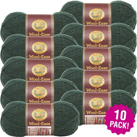 Lion Brand Wool Ease Yarn - 10/Pk-Forest Green Heather