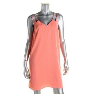 CeCe Womens Slip Dress Double-V Sleeveless