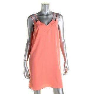 CeCe Womens Slip Dress Double-V Sleeveless