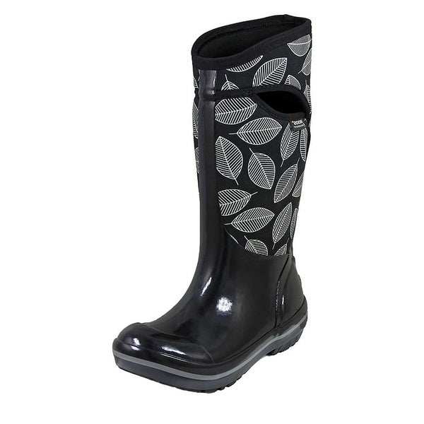 Bogs Outdoor Boots Womens Plimsoll Leaf Pull On Insulated Rubber - 6 M