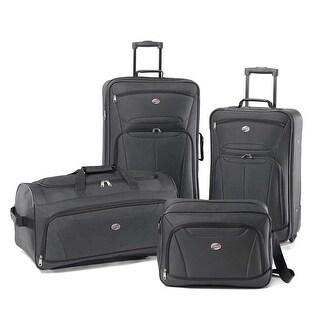American Tourister Fieldbrook II 4 Piece Luggage Set, Charcoal