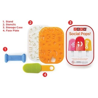 Zoku Social Media Kit, Create Message Pops with Zoku Quick Pop Makers