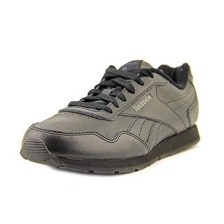 Reebok Royal Glide Women D Round Toe Leather Black Sneakers
