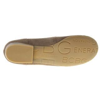 BCBGeneration Womens Donald Suede Moc-Toe Loafers - 7.5 medium (b,m)