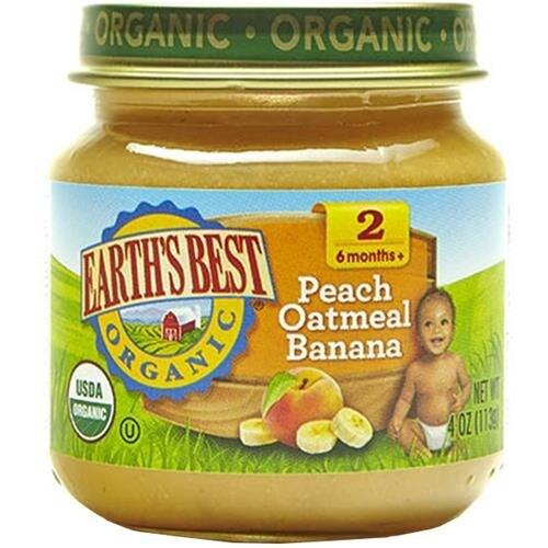 Earth's Best - Organic Peach Oatmeal Banana ( 12 - 4 OZ)