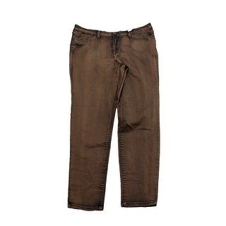 Vintage America Brown Boho Skinny Jeans