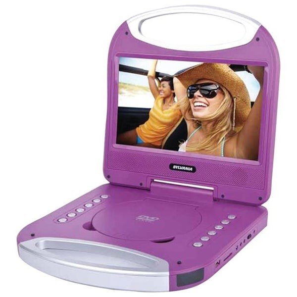 Sylvania 10 in. Portable DVD Player With Integrated Handle - Purple