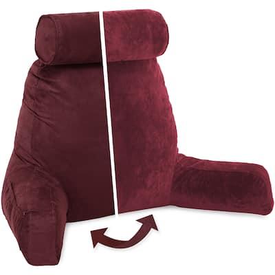 Husband Bedrest Micro-Suede Reading Pillow