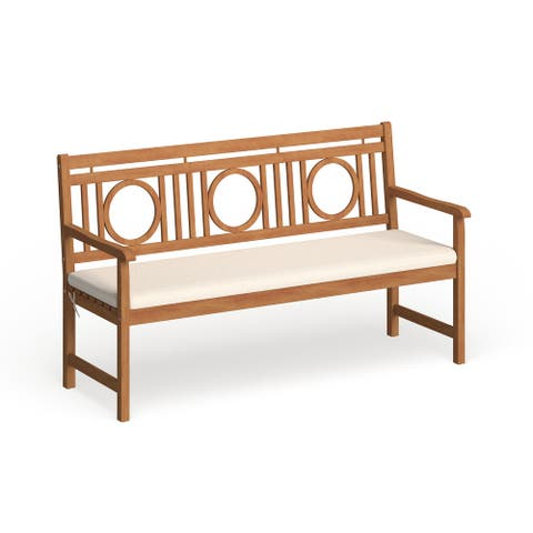 "Safavieh Outdoor Living Montclair Brown/ Beige 3 Seat Bench - 23.4"" x 60.6"" x 34.7"""