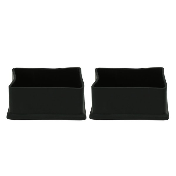 PVC Leg Caps Tips Cup Feet Covers 20 x 40mm Inner Size 2pcs Prevent Scratches